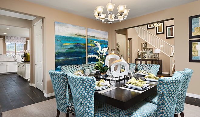 Dining room in the Thomas floor plan