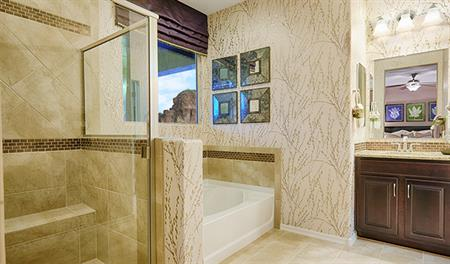 Master bath with walk in shower in the Thomas floor plan