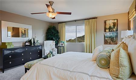 Master bedroom in the Thomas floor plan