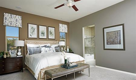 Master bedroom of the Timothy floor plan