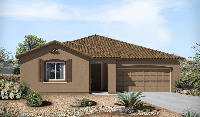 Exterior A of the Timothy floor plan in the Eagle Crest Ranch community