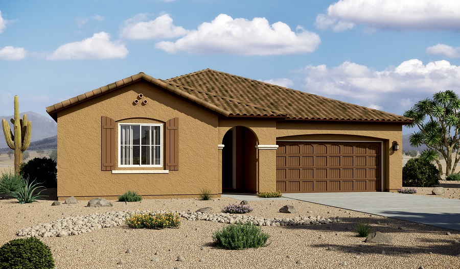 Exterior A of the Timothy floor plan in the Willow Vista community