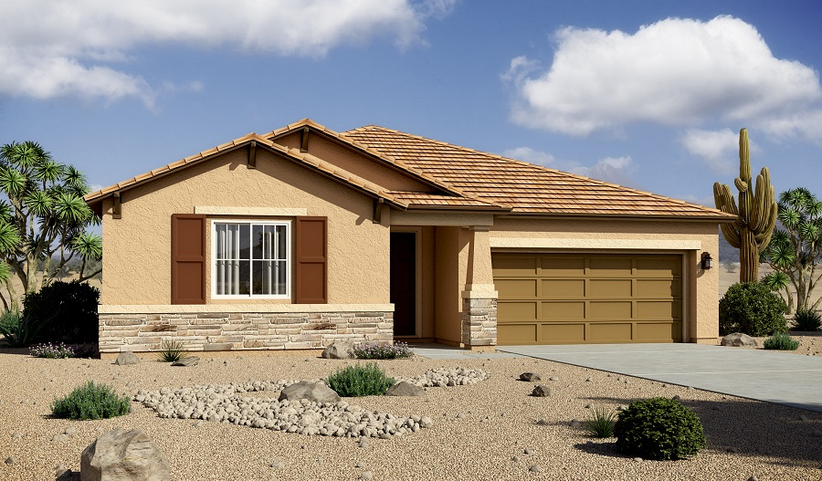 Exterior B of the Timothy floor plan in the Willow Vista community