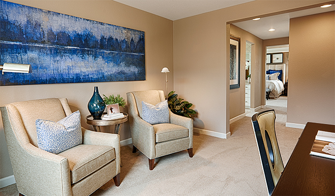 Master suite of the Tracy floor plan