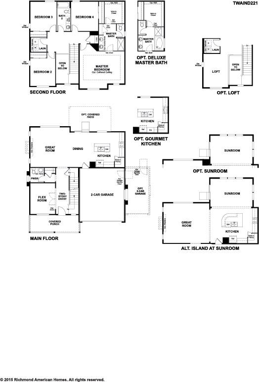 Twain ii floor plan at creekside at buckley ranch for Richmond homes ranch floor plans