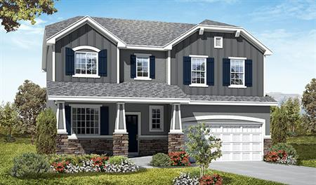 Exterior E of the Twain floor plan in the Picket Lane community