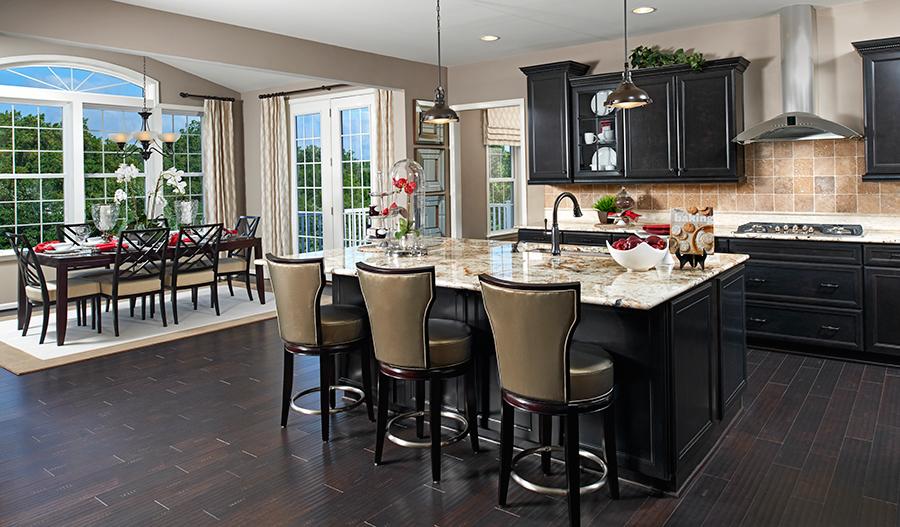 Kitchen and nook of the Warren floor plan
