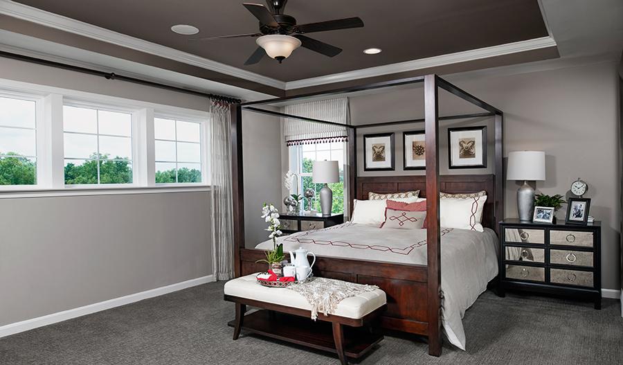 Master bedroom of the Warren floor plan