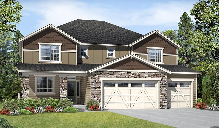 5 bedroom 4 bathroom 3 car garage floor plans in auburn for Washington house plans