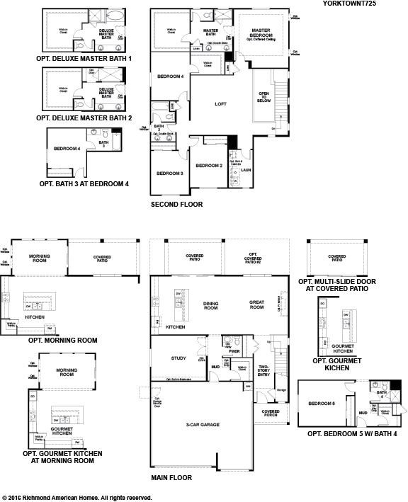 The Yorktown floor plan