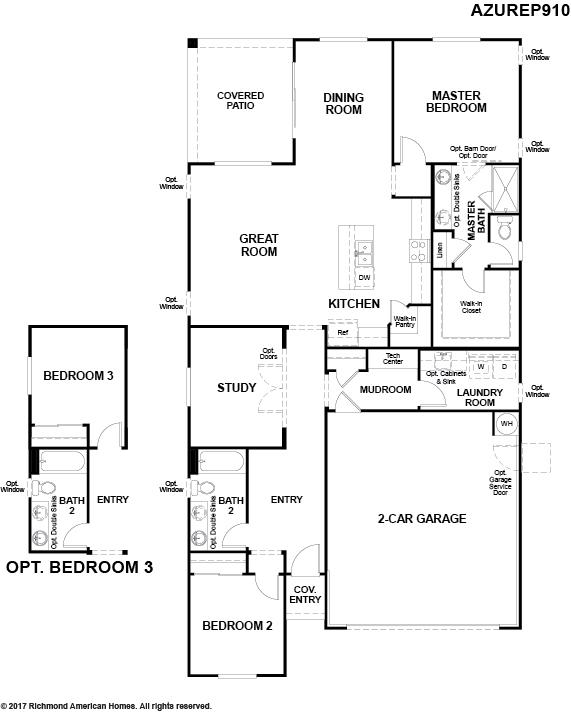 The Azure floor plan