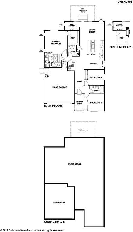 The Onyx floor plan