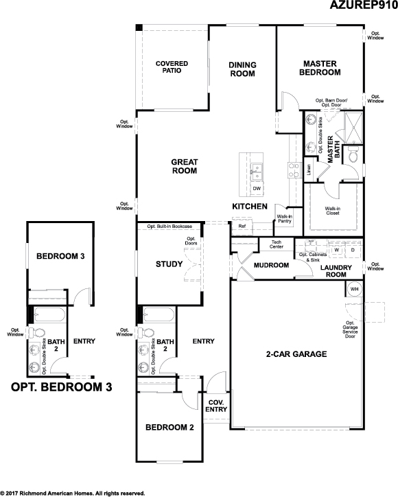 The Azure floor plan