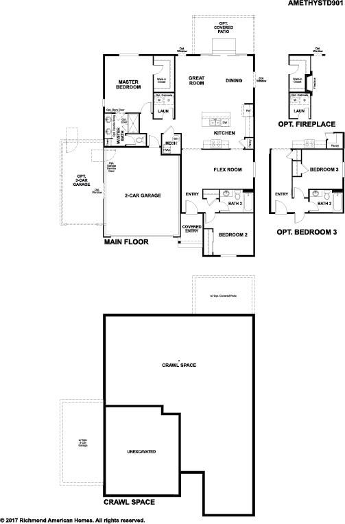 The Amethyst floor plan