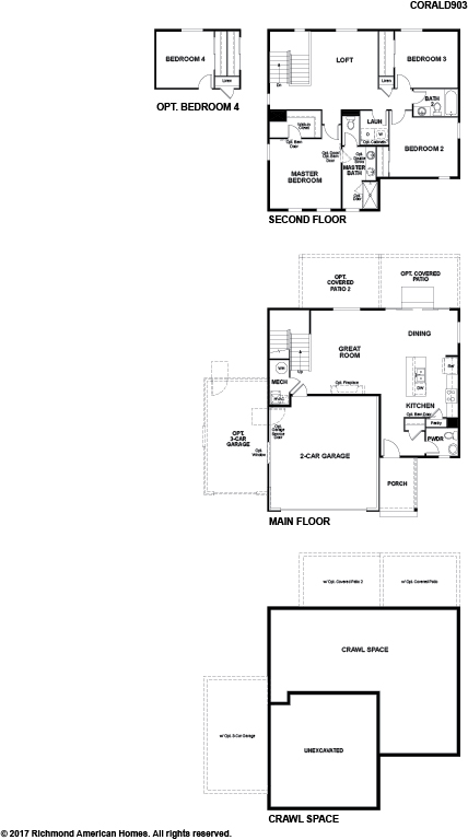The Coral floor plan available at Mountain Valley Seasons