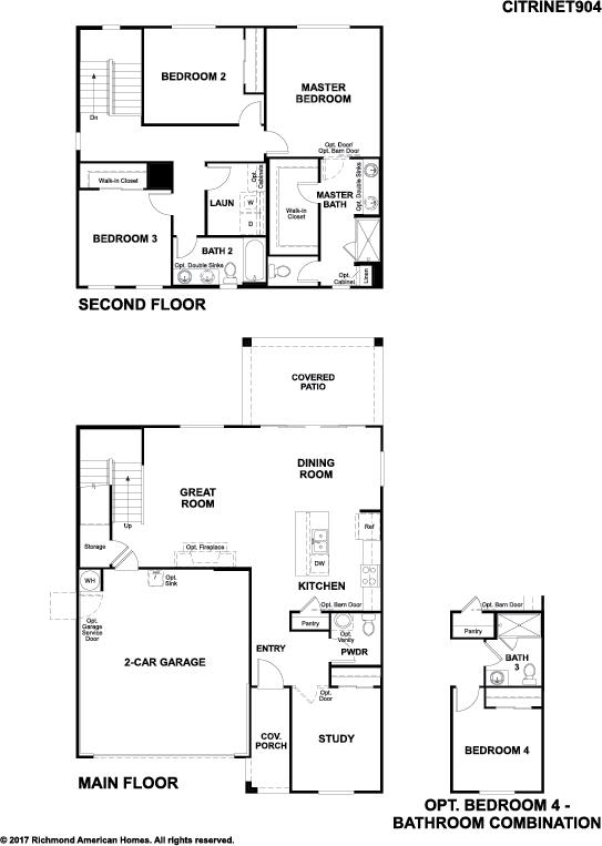The Citrine floor plan