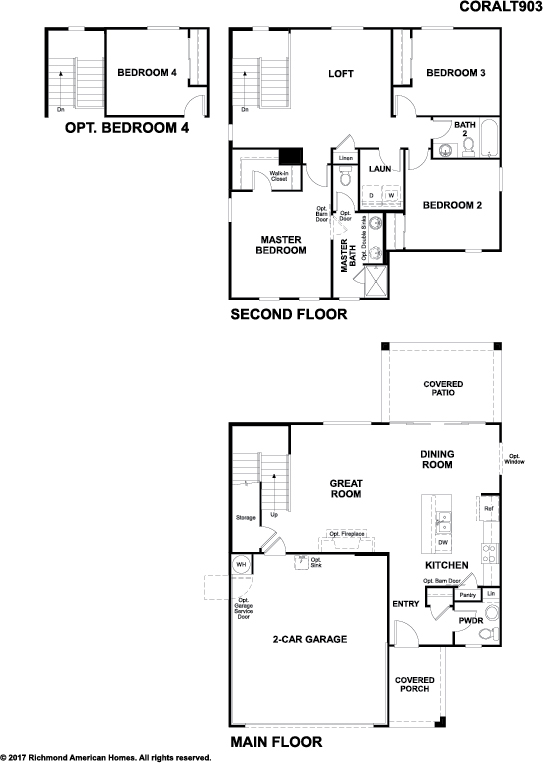 The Coral floor plan