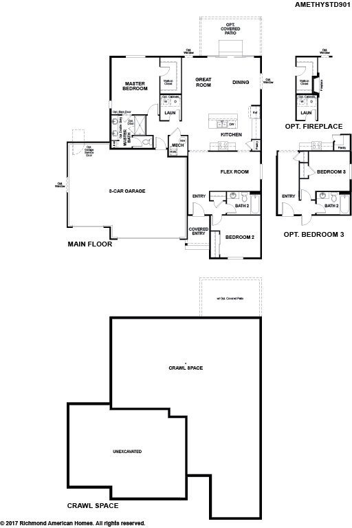The Amethyst floor plan available at Paint Brush Hills