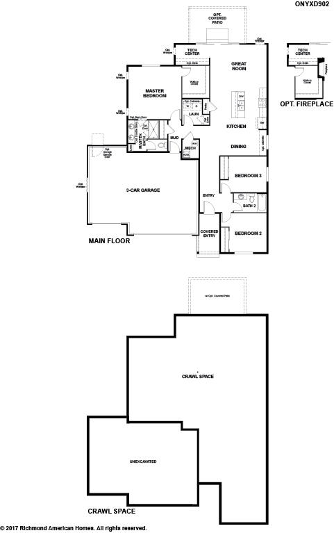 The Onyx floor plan available at Paint Brush Hills