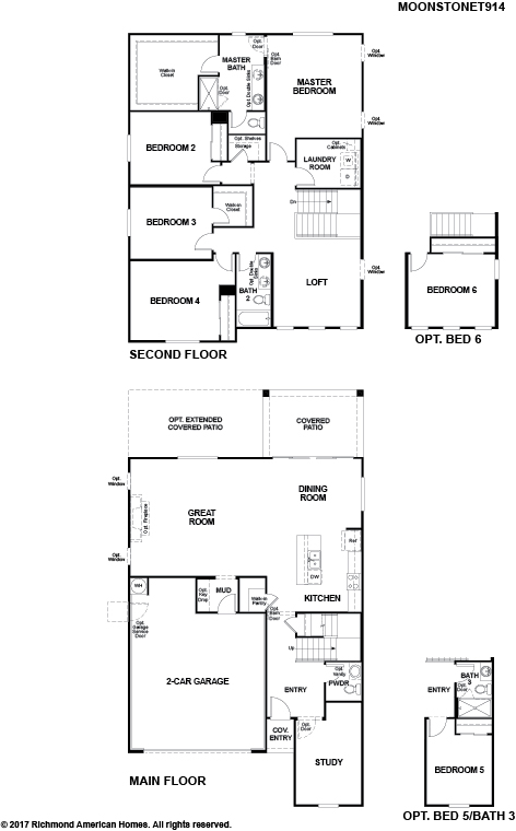 The Moonstone floor plan