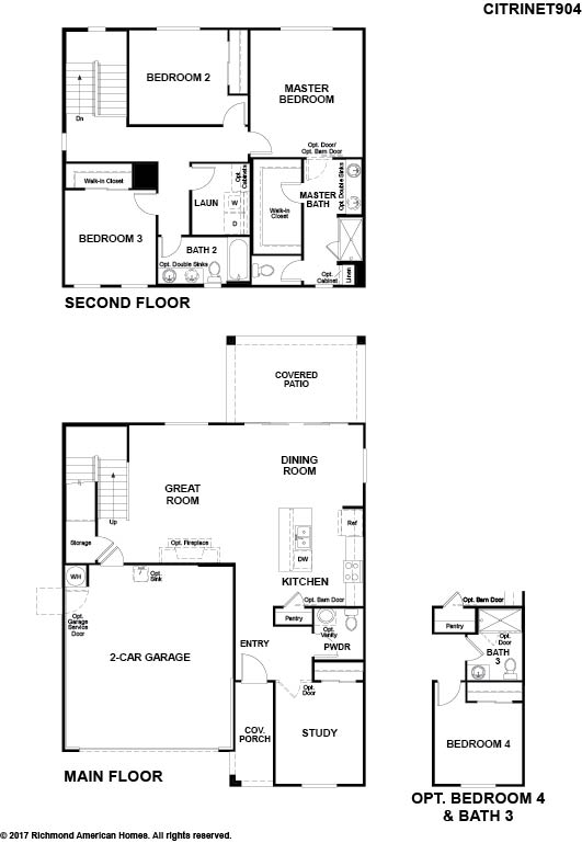 The Citrine floor plan