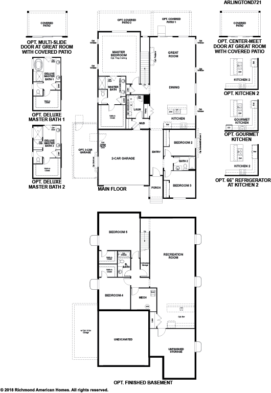 The Arlington Floor Plan at The Villages at Colliers Hill static FP JPG