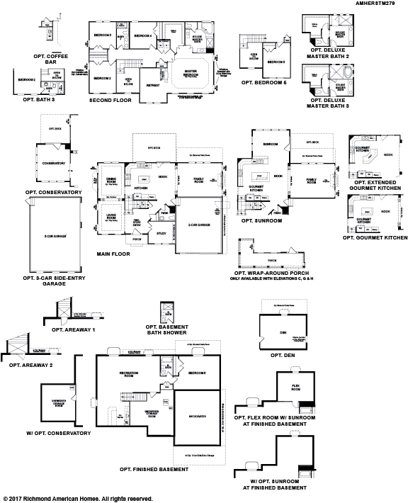 The Amherst floor plan